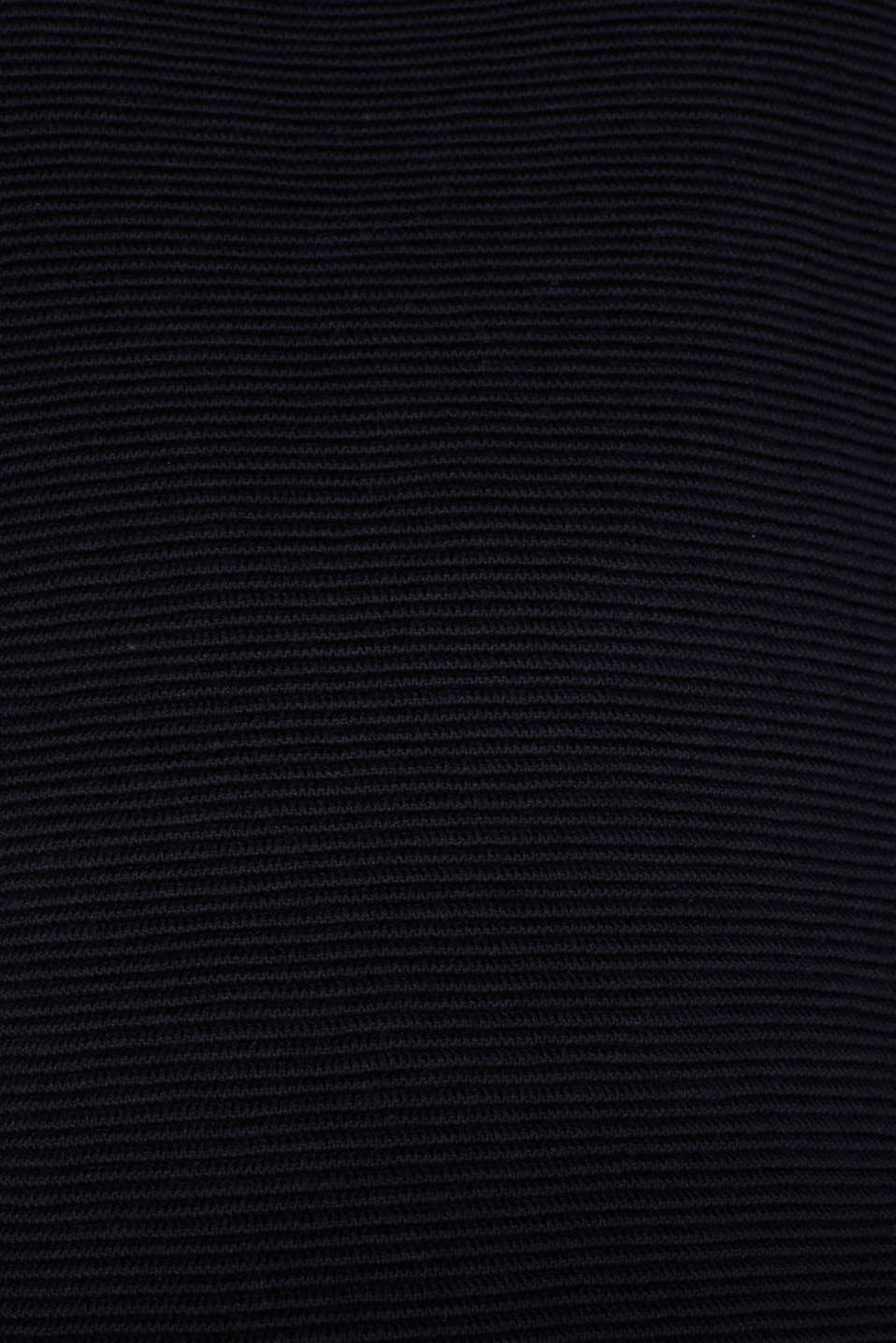 Colour block jumper with a ribbed texture, NAVY 2, detail image number 4