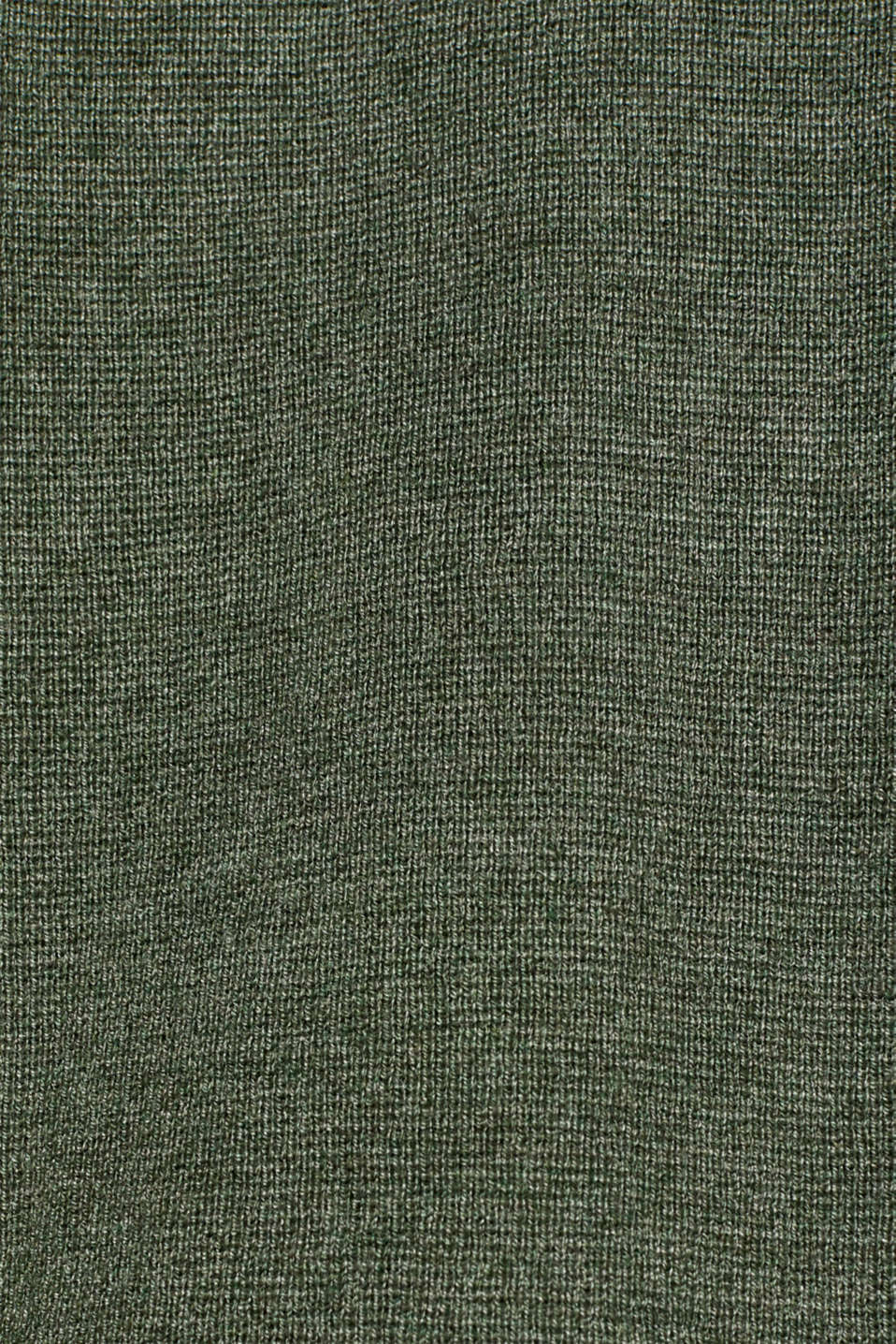 Fine knit cardigan with ribbed trims, KHAKI GREEN 5, detail image number 4