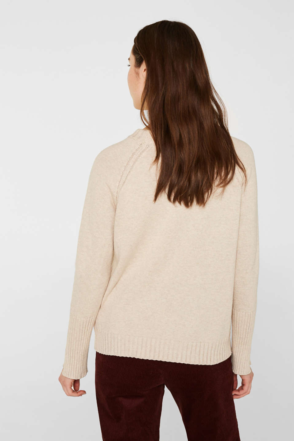 Sweaters, LIGHT BEIGE 5, detail image number 3