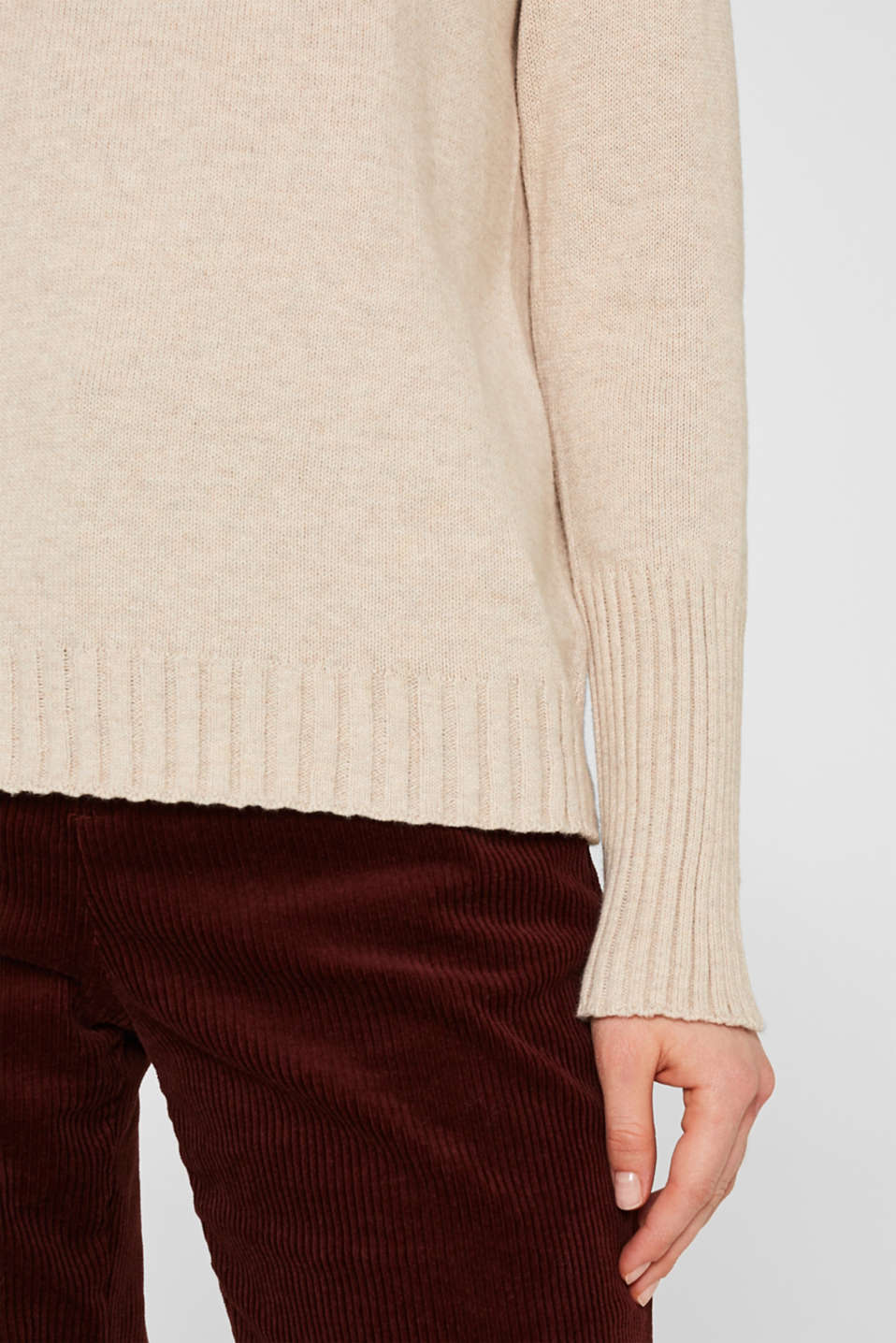 Sweaters, LIGHT BEIGE 5, detail image number 2
