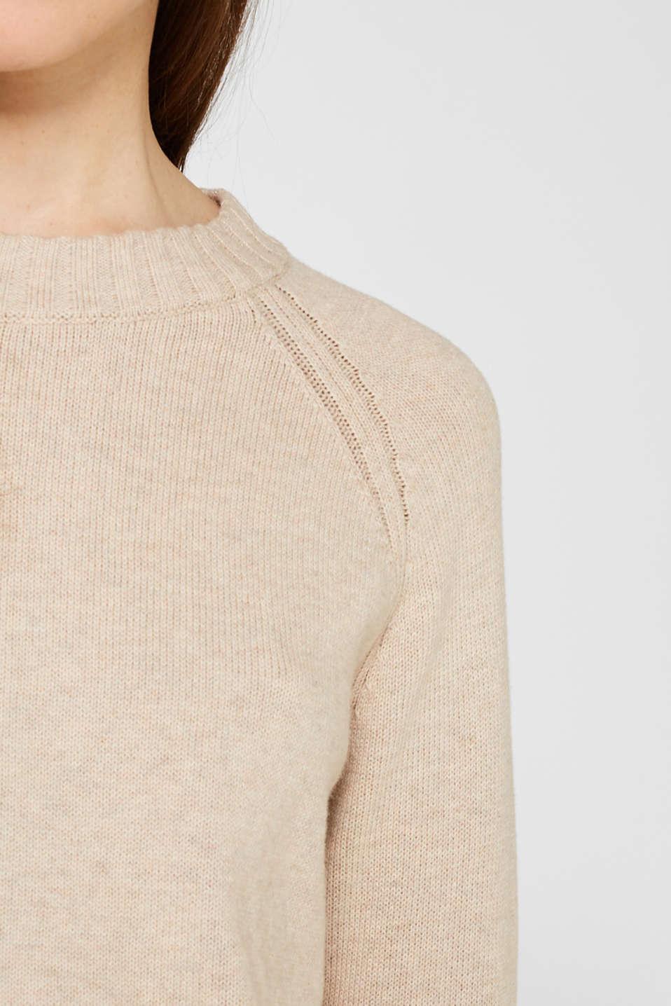 Sweaters, LIGHT BEIGE 5, detail image number 5