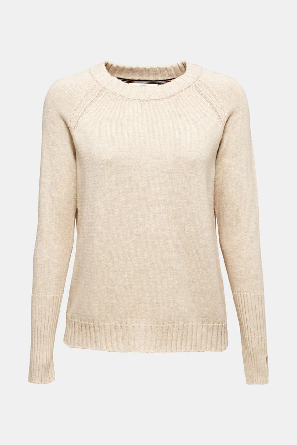 Sweaters, LIGHT BEIGE 5, detail image number 7