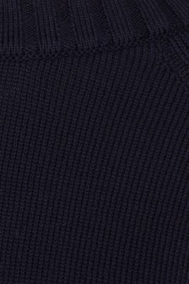 Jumper with ribbed borders, 100% cotton