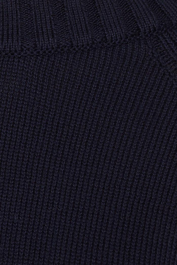 Pullover mit Ripp-Bündchen, 100% Baumwolle, NAVY, detail image number 4