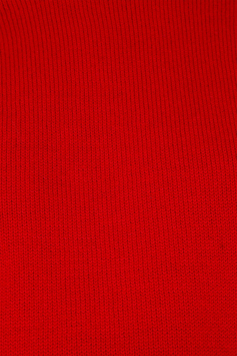 Jumper with ribbed borders, 100% cotton, DARK RED, detail image number 4