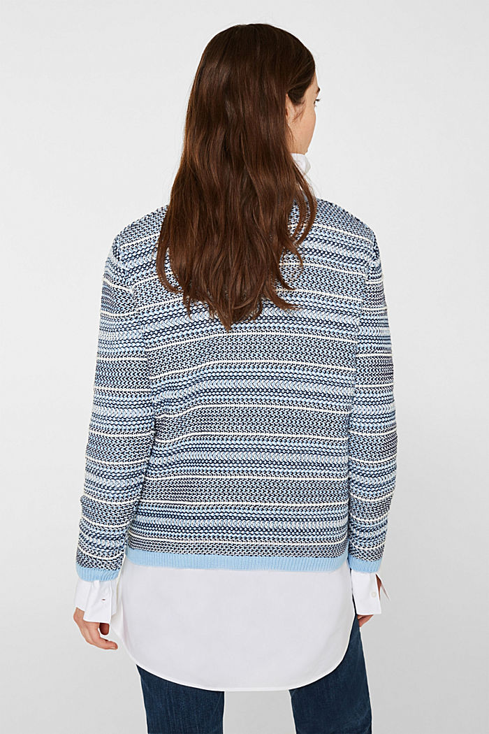 Textured multi-colour jumper, LIGHT BLUE 2, detail image number 3