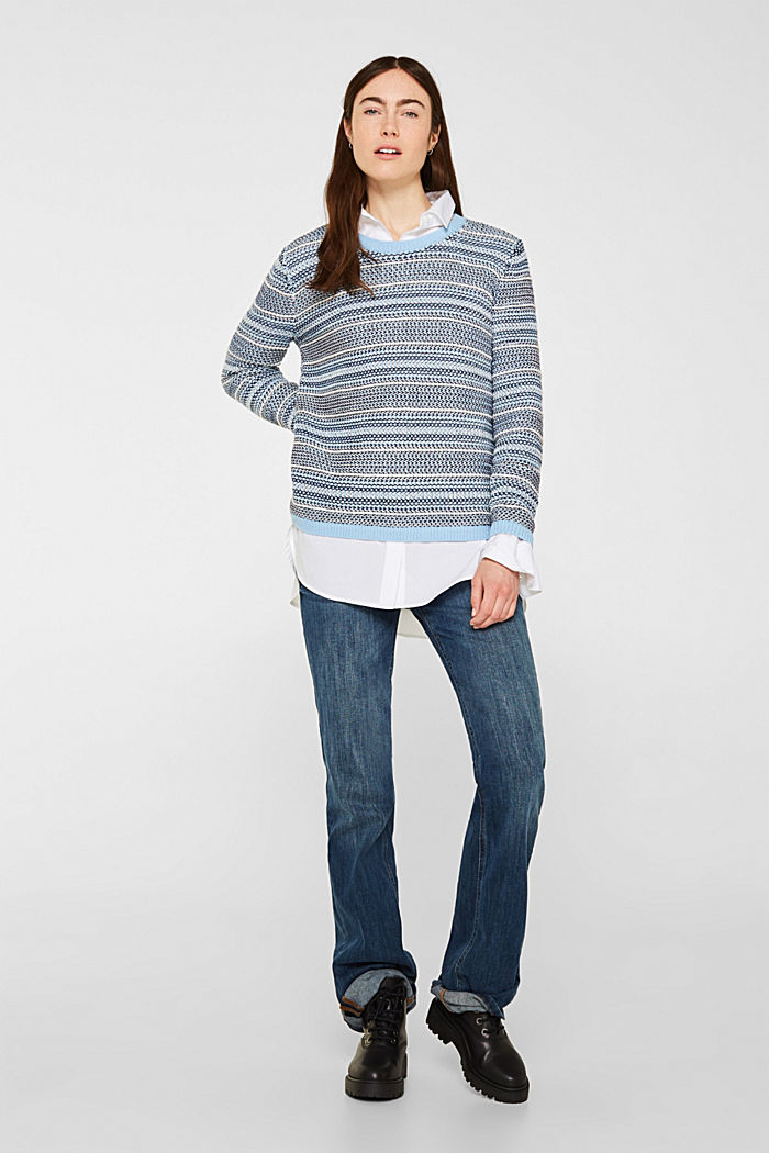 Textured multi-colour jumper, LIGHT BLUE 2, detail image number 1