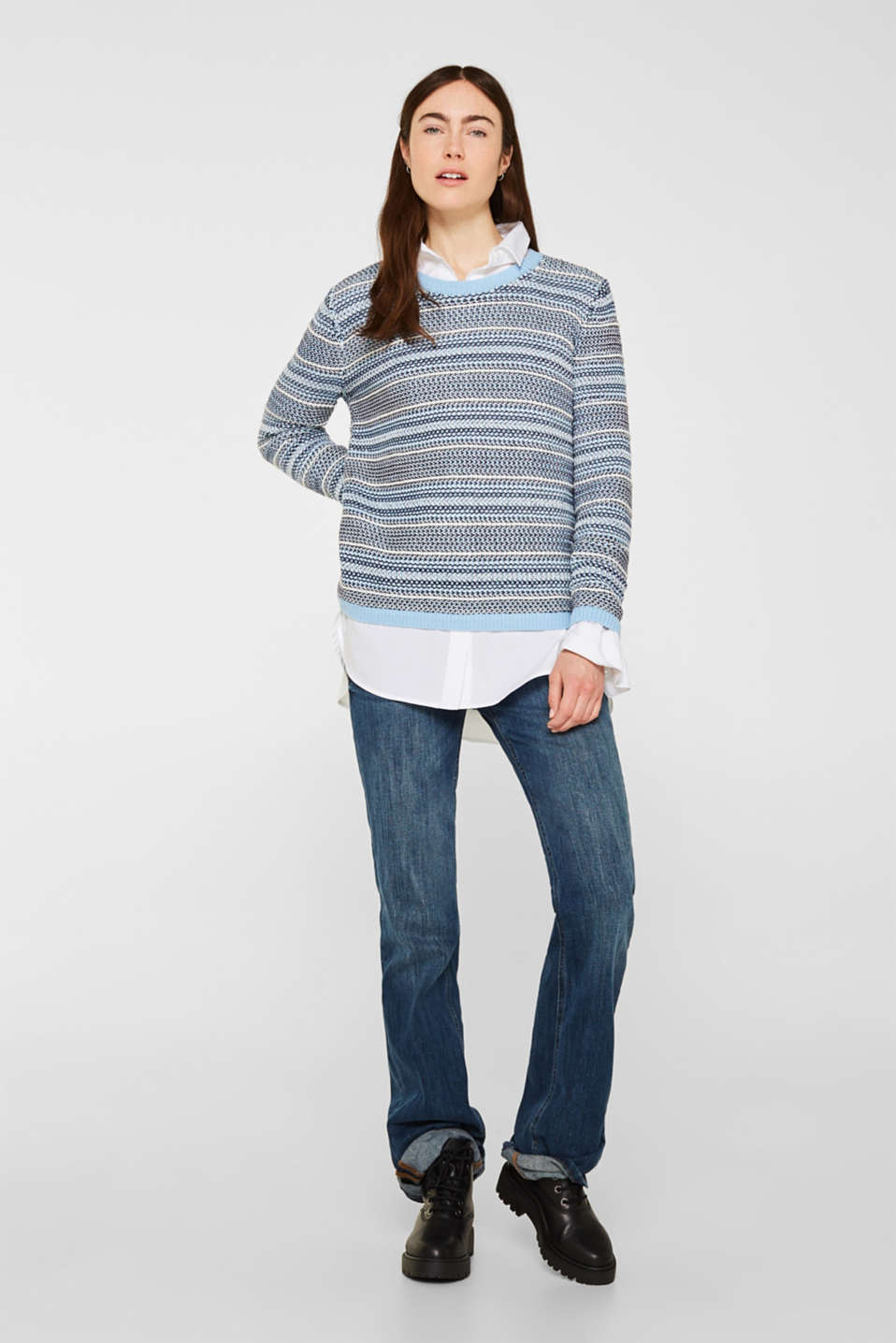 Textured multi-colour jumper, LIGHT BLUE 2, detail
