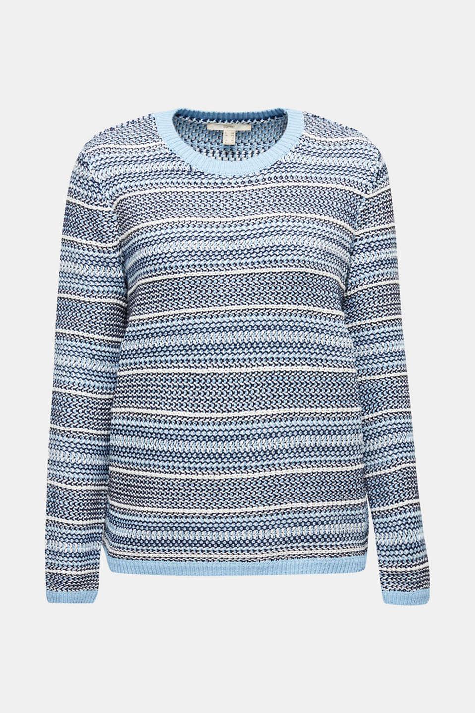 Textured multi-colour jumper, LIGHT BLUE 2, detail image number 5
