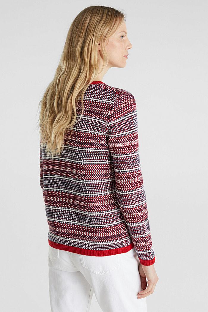 Textured multi-colour jumper, DARK RED, detail image number 3