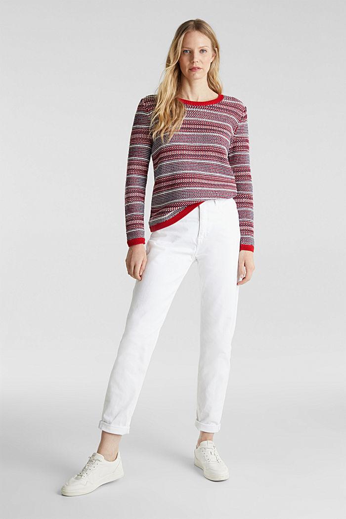 Textured multi-colour jumper, DARK RED, detail image number 1