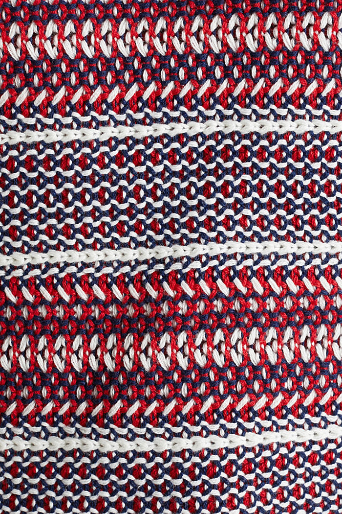 Textured multi-colour jumper, DARK RED, detail image number 4