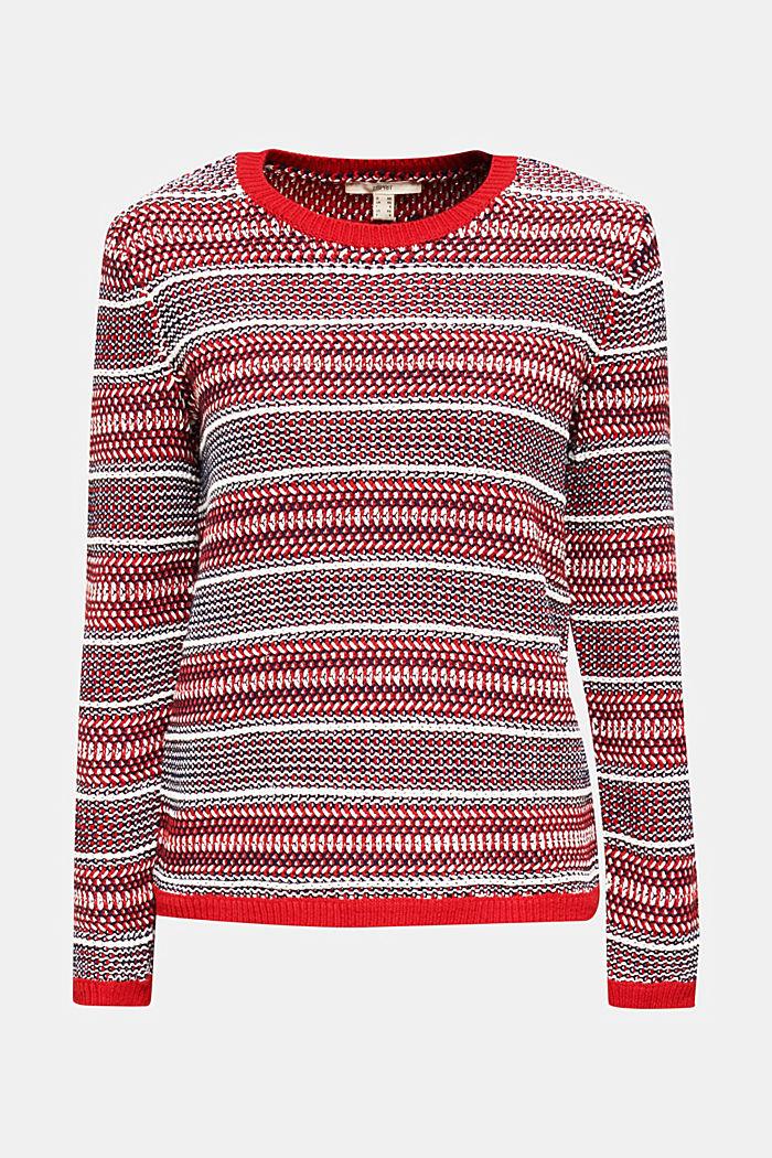 Textured multi-colour jumper, DARK RED, detail image number 5