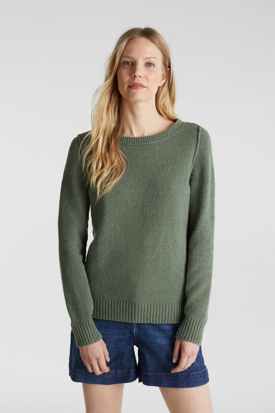 Esprit - Comfy and stretchy bouclé jumper