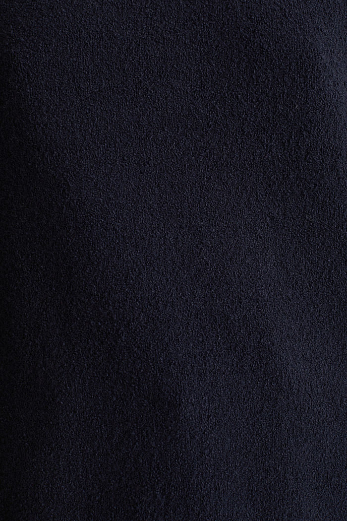 Comfy and stretchy bouclé jumper, NAVY, detail image number 4