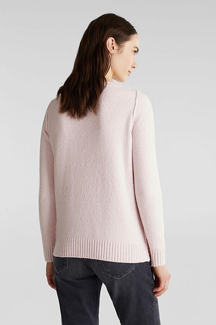 Bouclé-Pullover mit Stretchkomfort, LIGHT PINK, detail image number 3