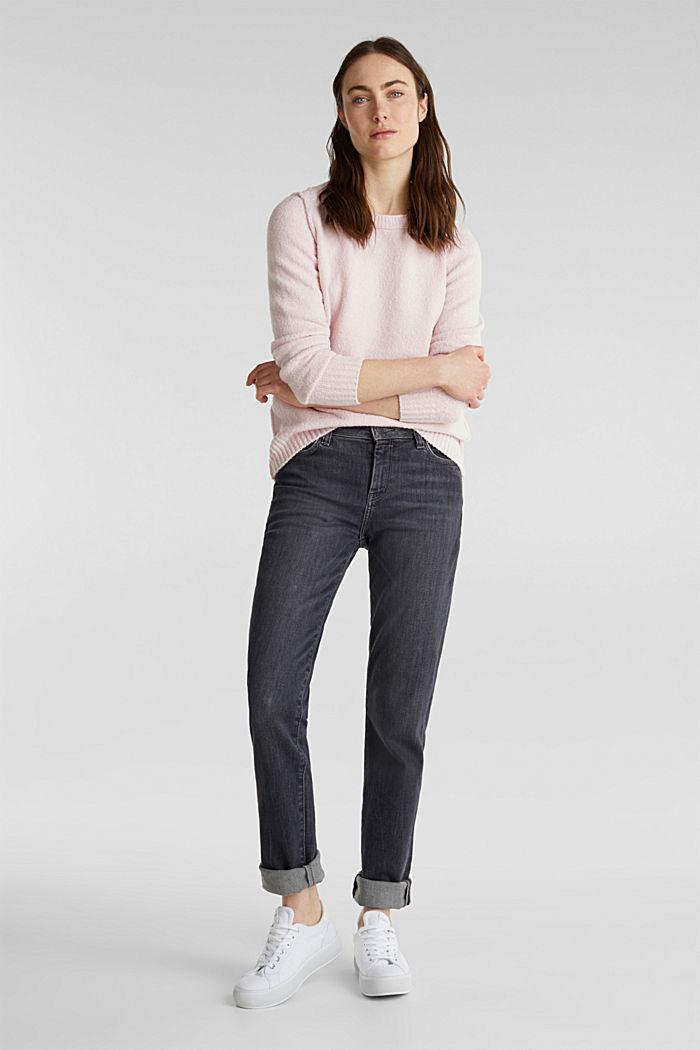 Bouclé-Pullover mit Stretchkomfort, LIGHT PINK, detail image number 1