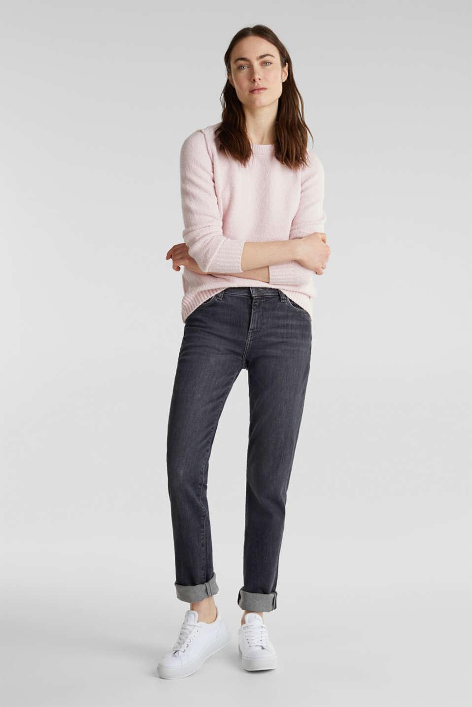 Comfy and stretchy bouclé jumper, LIGHT PINK, detail image number 1