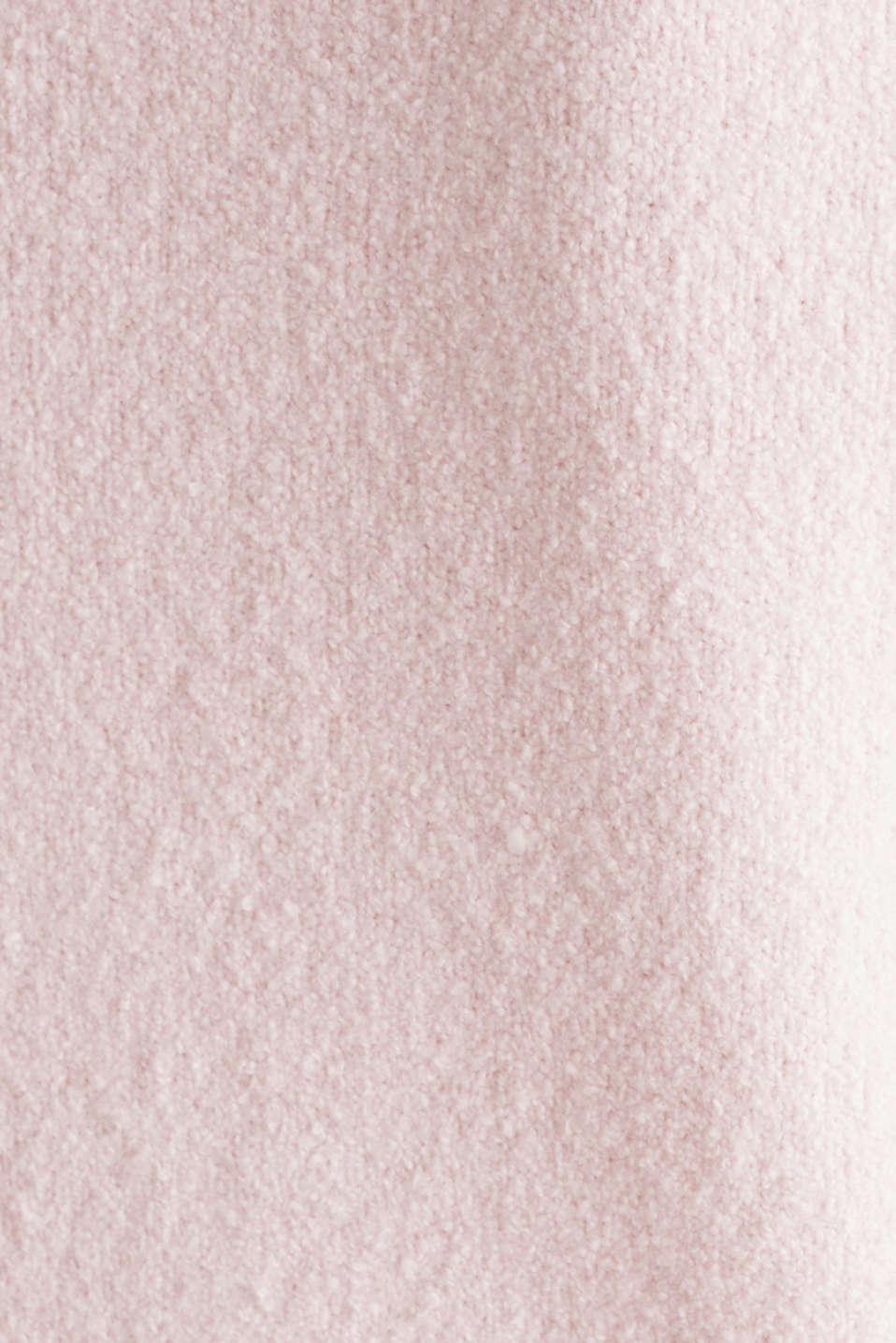 Comfy and stretchy bouclé jumper, LIGHT PINK, detail image number 4