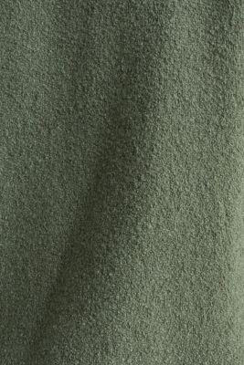 Stretch bouclé cardigan, KHAKI GREEN, detail