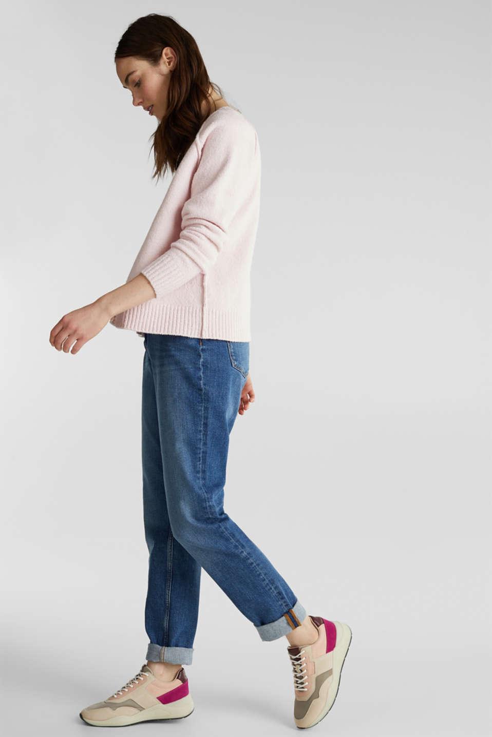 Stretch bouclé cardigan, LIGHT PINK, detail image number 1