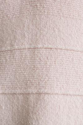 Stretch bouclé jumper with textured stripes, LIGHT PINK, detail