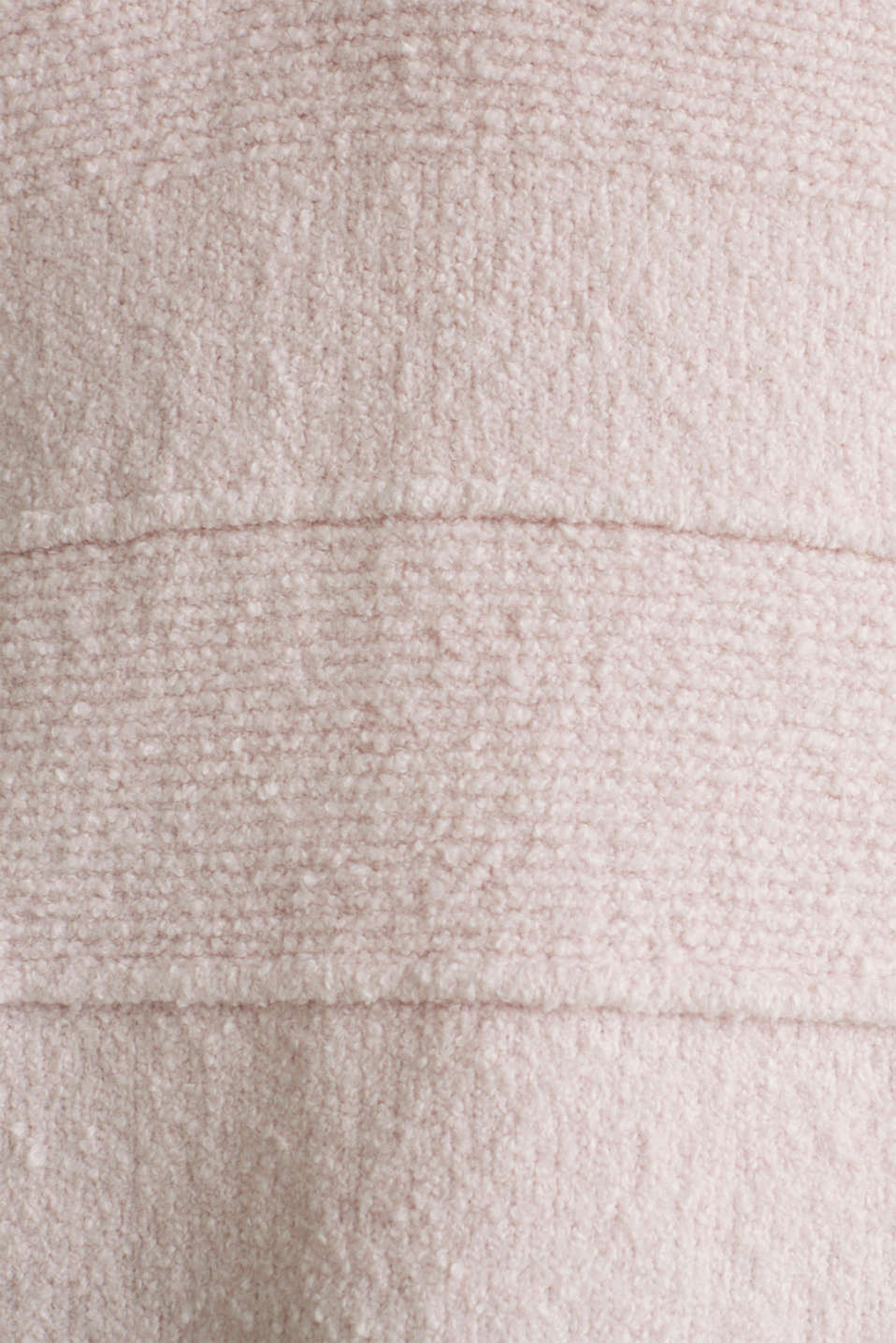 Stretch bouclé jumper with textured stripes, LIGHT PINK, detail image number 3