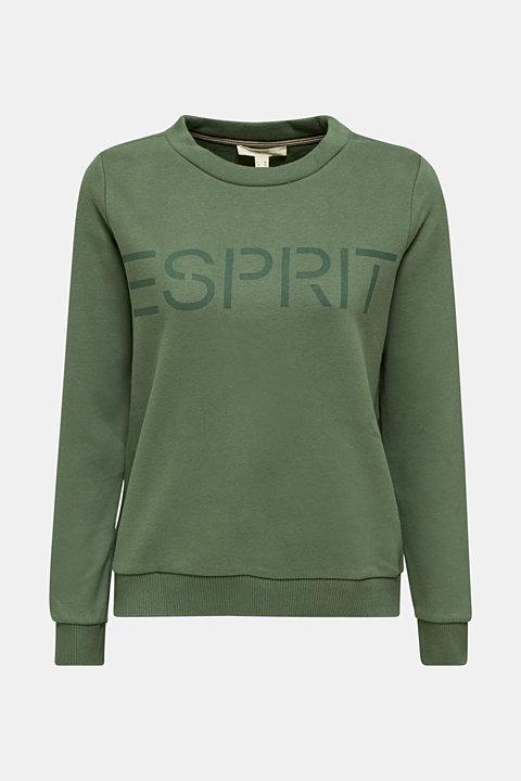 Logo sweatshirt in blended cotton
