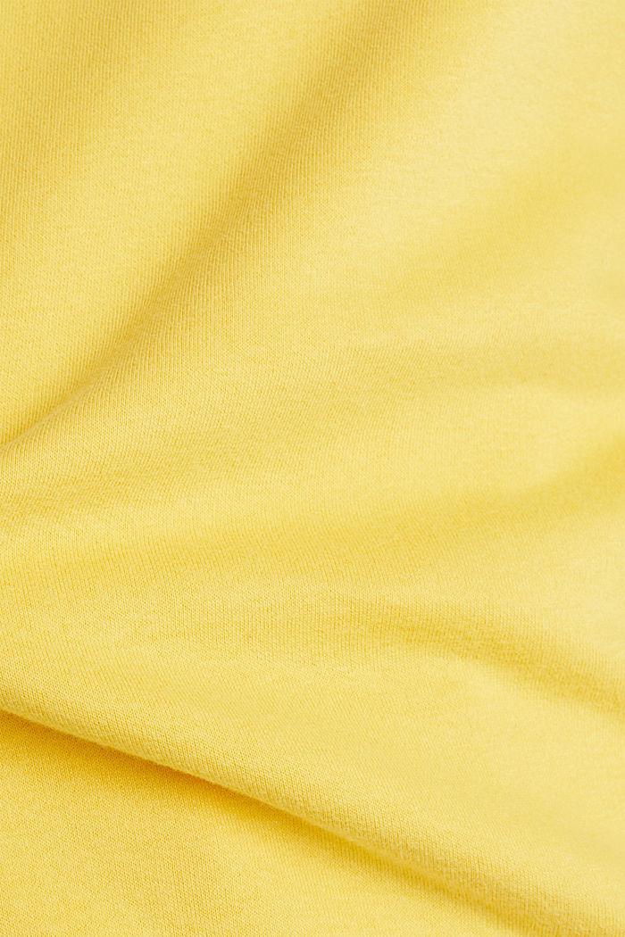 Logo-Sweatshirt aus Baumwoll-Mix, YELLOW, detail image number 4