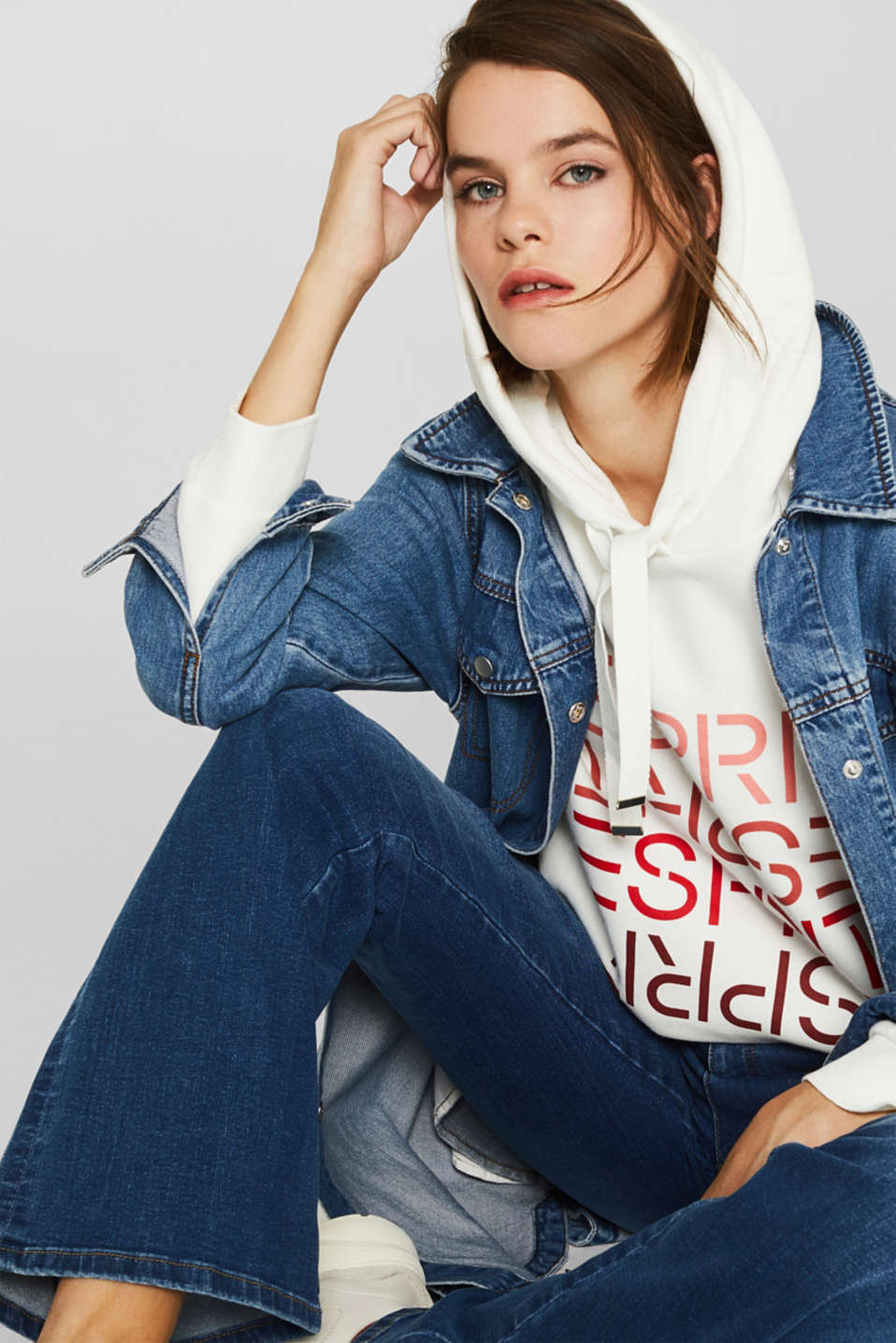 Sweatshirts, OFF WHITE, detail image number 0