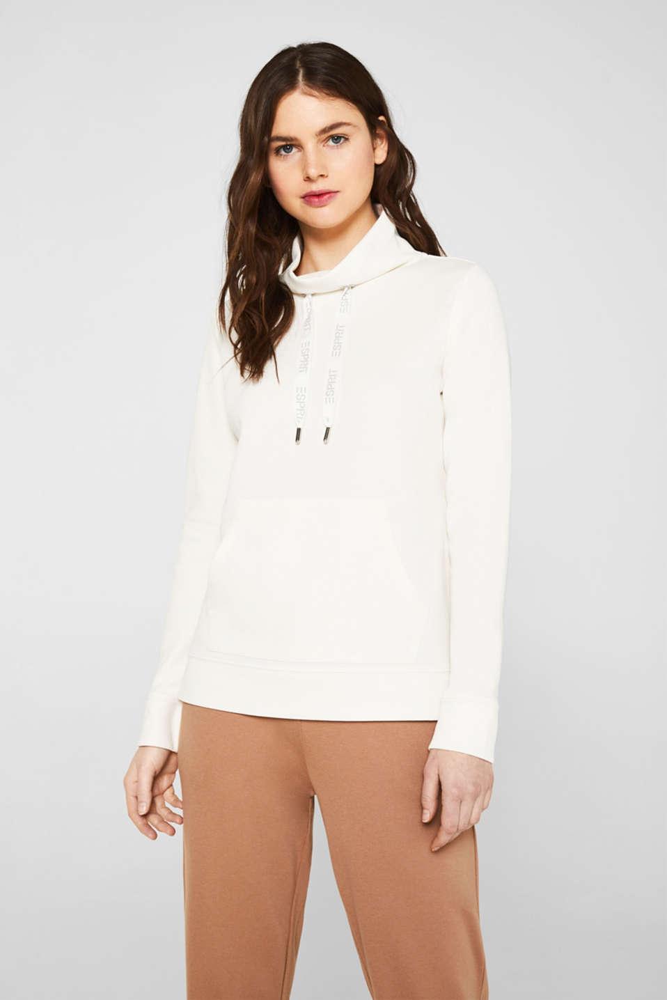 Piqué texture sweatshirt, OFF WHITE, detail image number 0