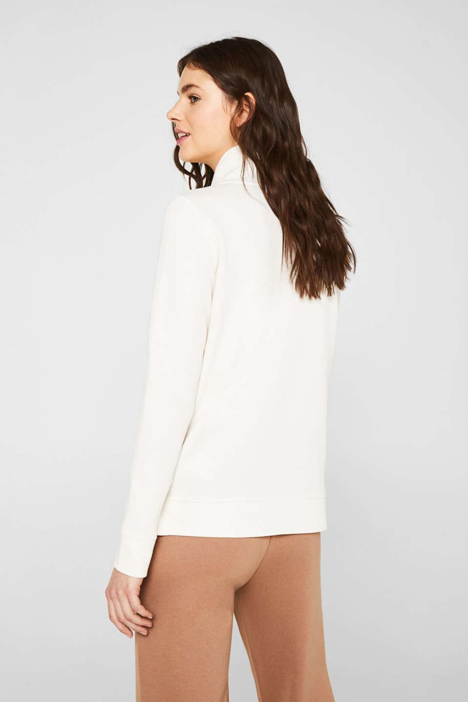 Piqué texture sweatshirt, OFF WHITE, detail image number 3