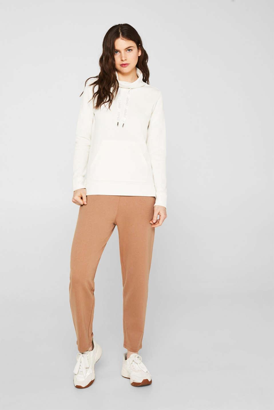 Piqué texture sweatshirt, OFF WHITE, detail image number 1