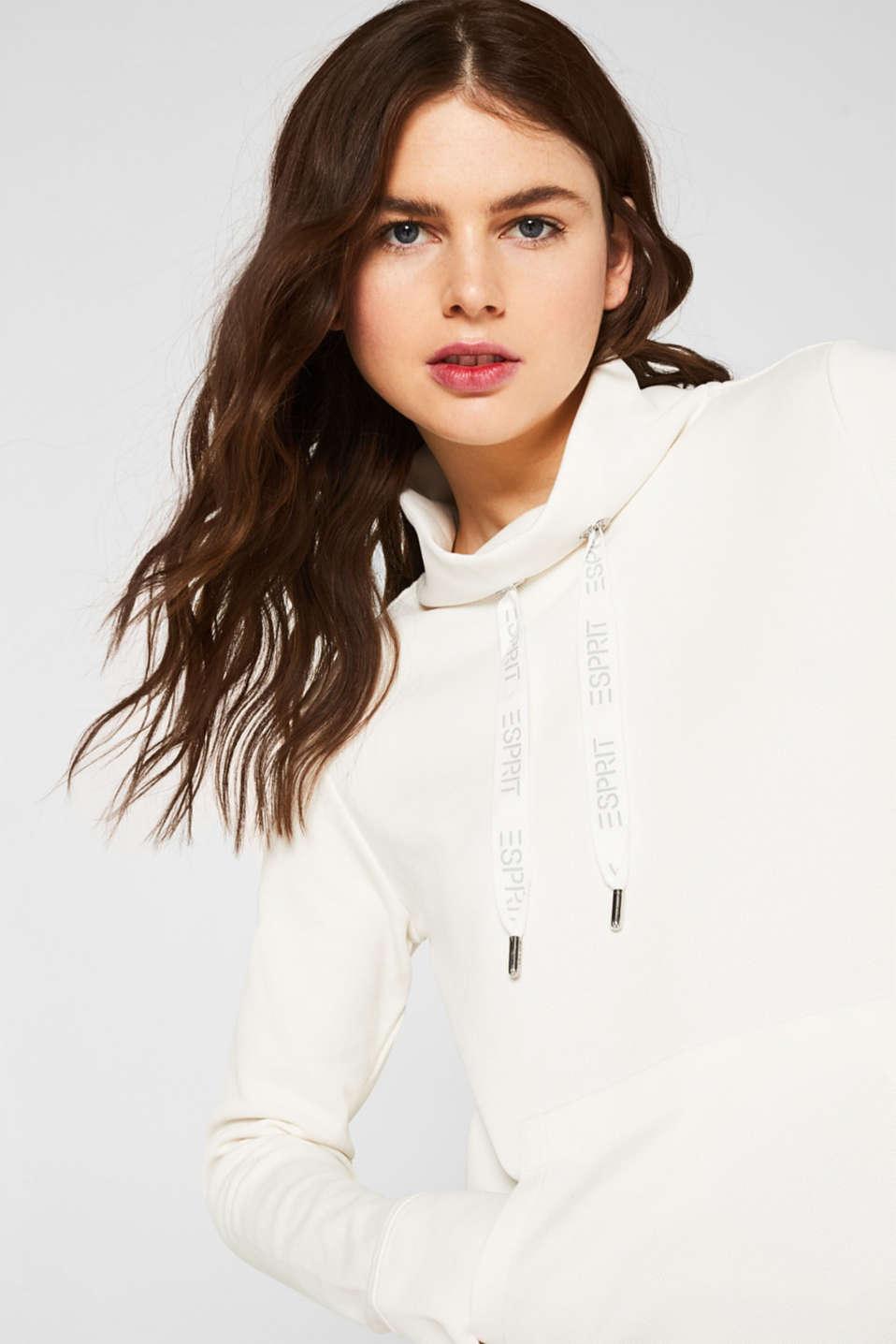 Piqué texture sweatshirt, OFF WHITE, detail image number 5