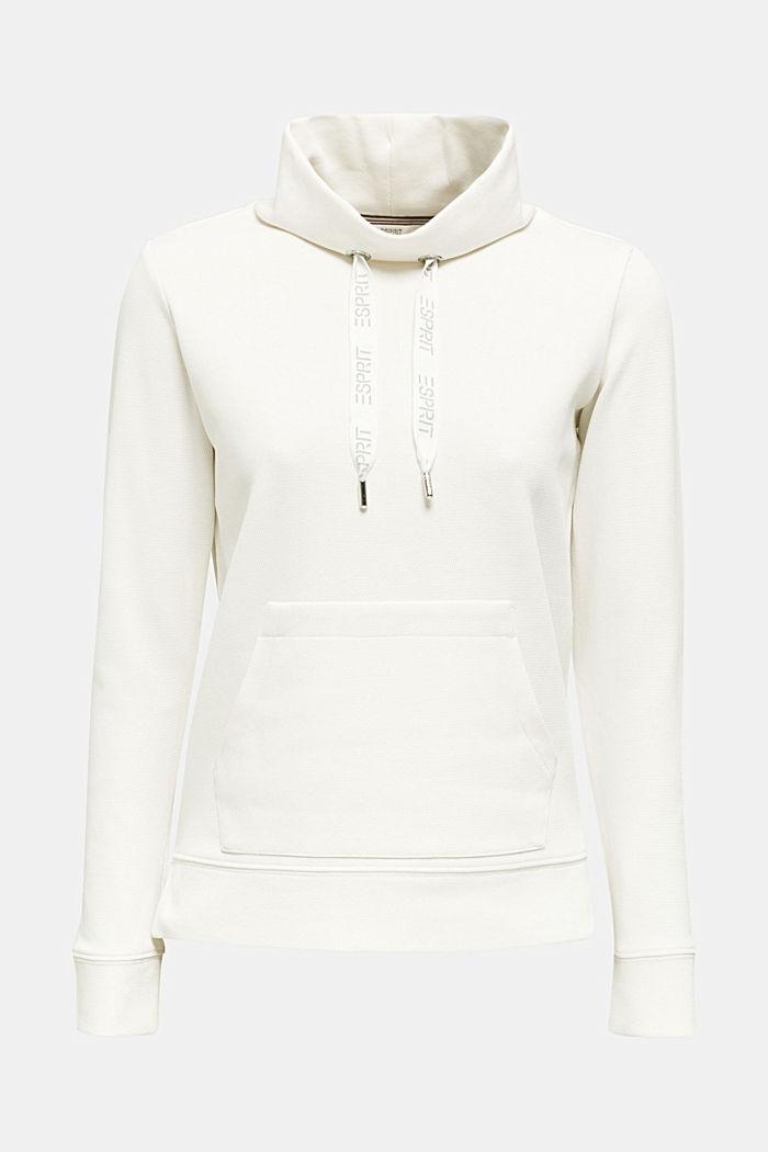 Sweatshirt mit Piqué-Struktur