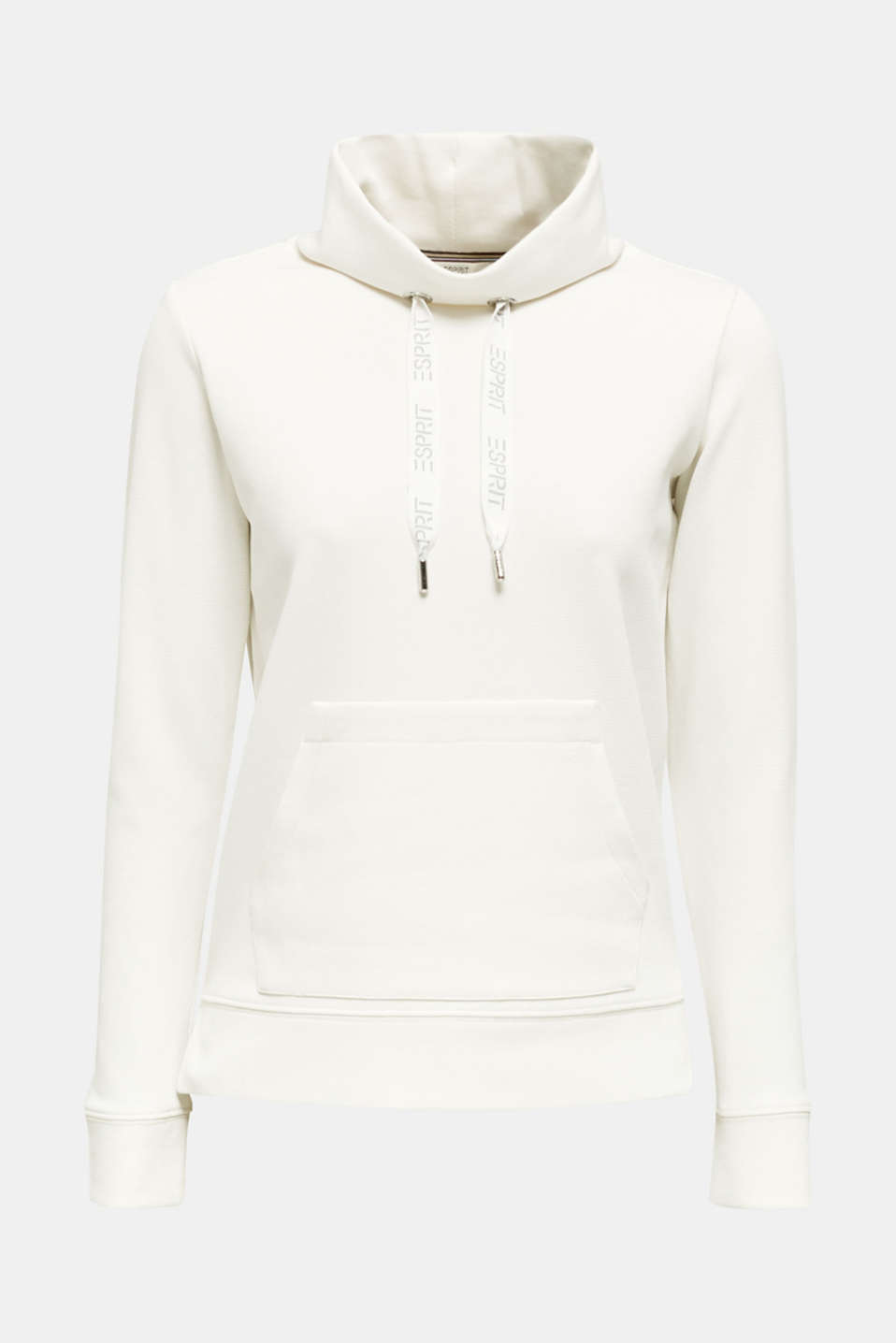 Piqué texture sweatshirt, OFF WHITE, detail image number 6