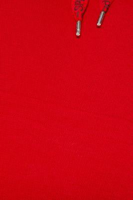 Piqué texture sweatshirt, DARK RED, detail