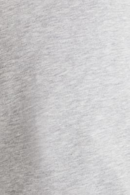 Melange hoodie with a logo print, LIGHT GREY 5, detail