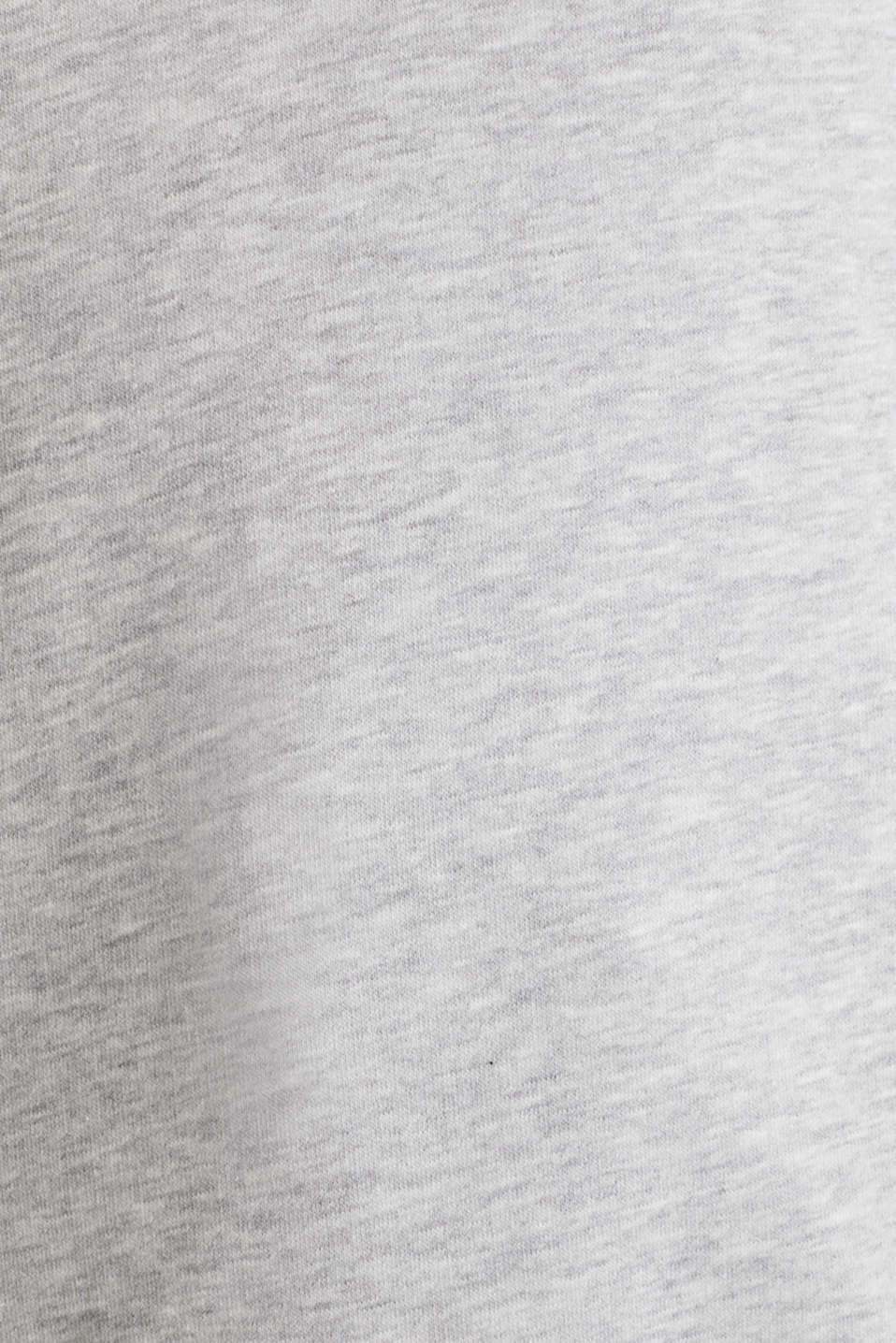 Melange hoodie with a logo print, LIGHT GREY 5, detail image number 4