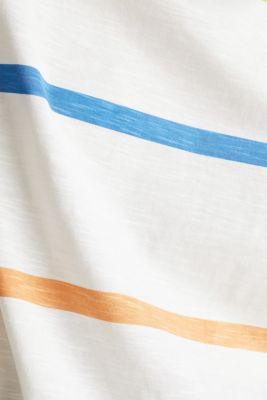 Striped T-shirt, 100% cotton, OFF WHITE, detail
