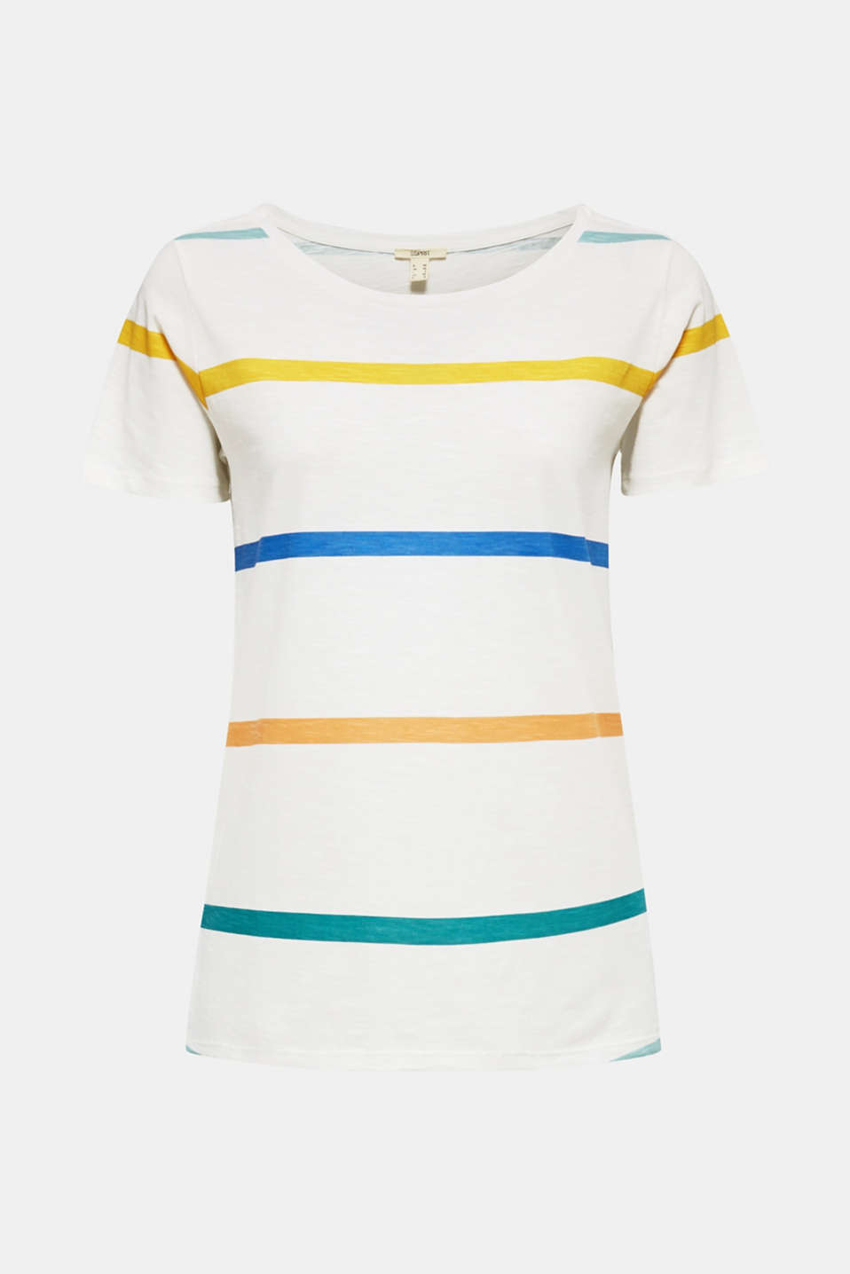 Striped T-shirt, 100% cotton, OFF WHITE, detail image number 6