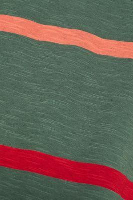 Striped T-shirt, 100% cotton, KHAKI GREEN, detail