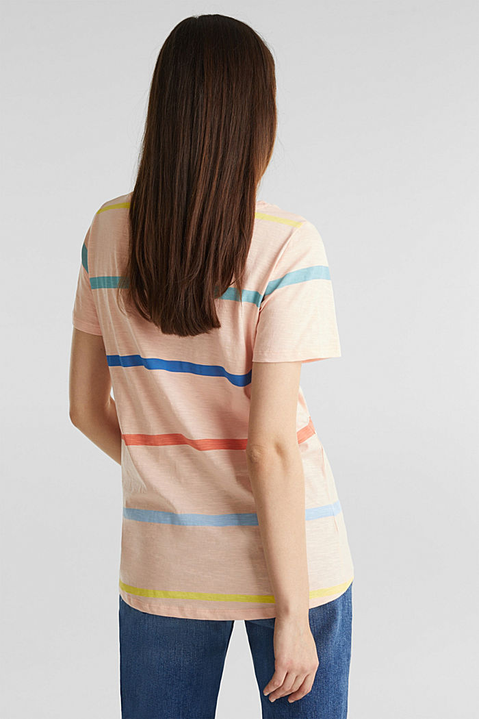 Striped T-shirt, 100% cotton, PEACH, detail image number 3