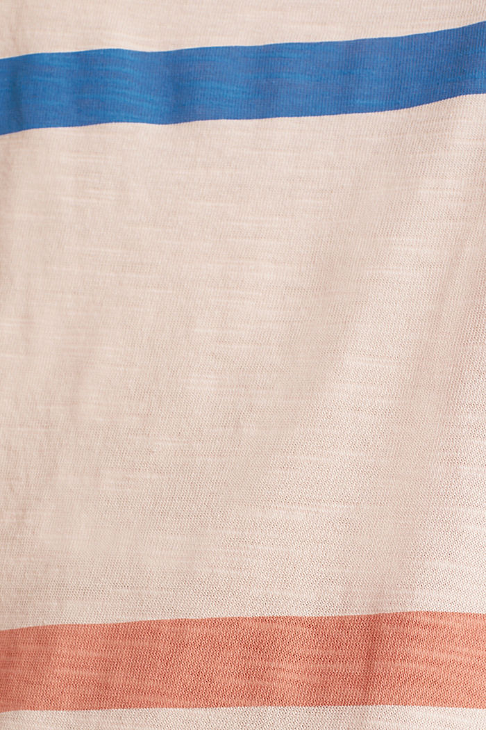 Striped T-shirt, 100% cotton, PEACH, detail image number 4