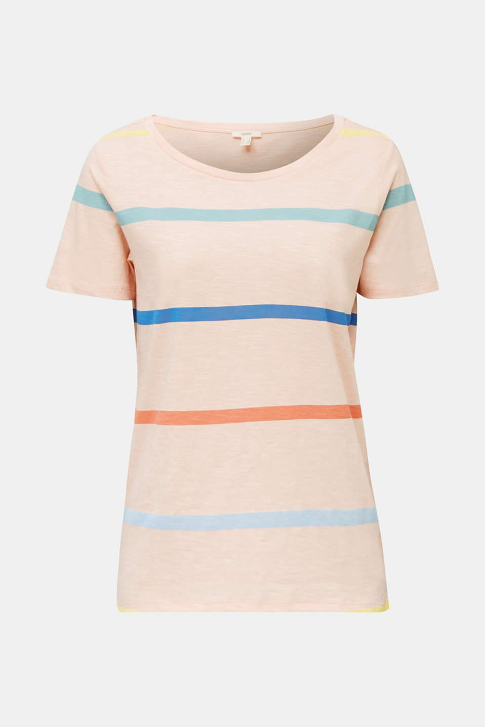 Striped T-shirt, 100% cotton, PEACH, detail image number 6