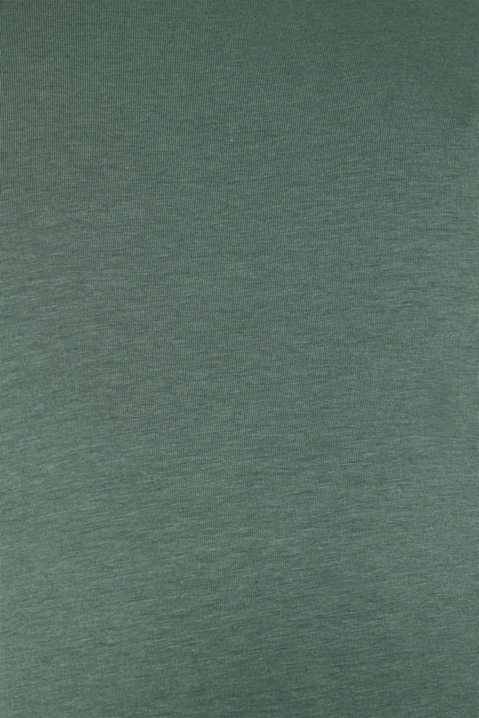 Stretch top with a large neckline, KHAKI GREEN 4, detail image number 4