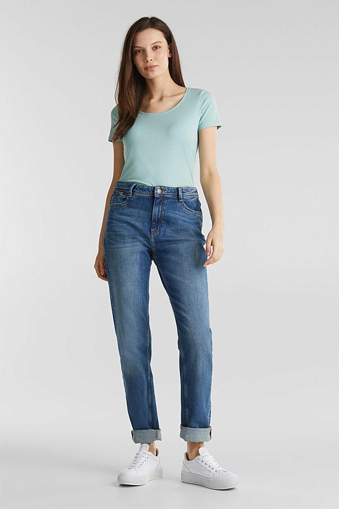 Basic shirt met stretch, LIGHT AQUA GREEN, detail image number 1
