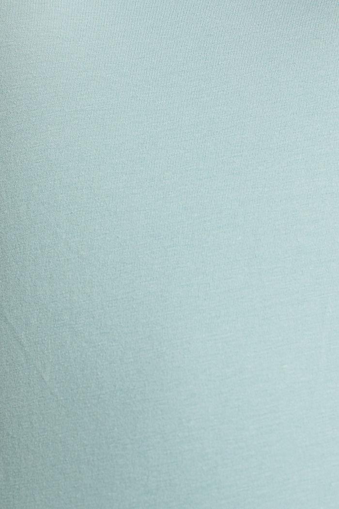 Basic shirt met stretch, LIGHT AQUA GREEN, detail image number 4