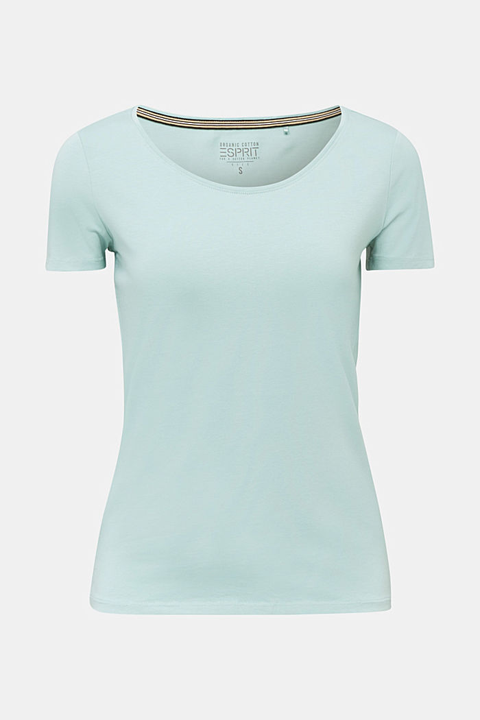 Basic shirt met stretch, LIGHT AQUA GREEN, detail image number 7