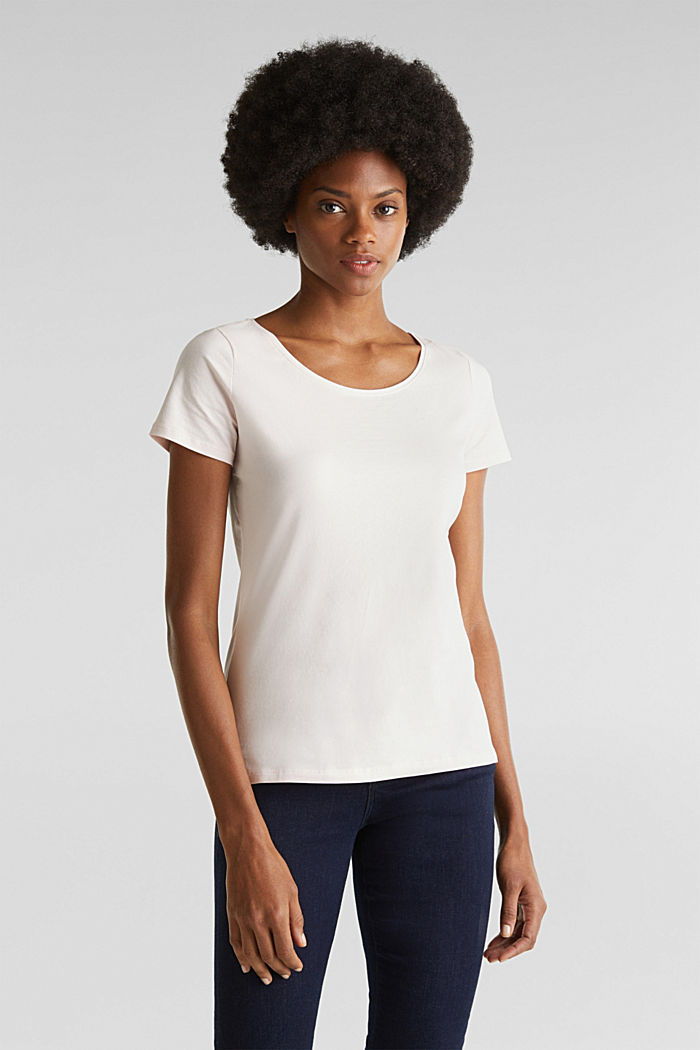 Basic top with stretch for comfort, LIGHT PINK, detail image number 0